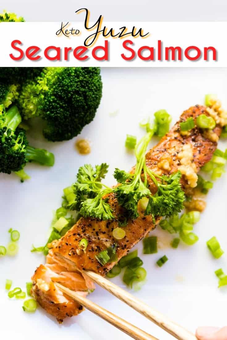 keto Yuzu Seared Salmon pin 1