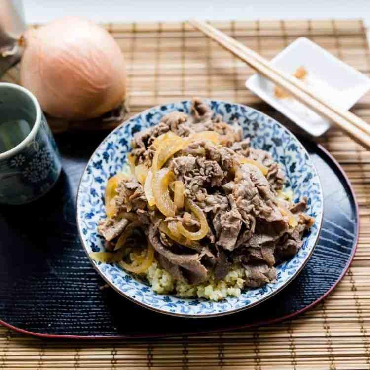 keto Japanese Gyudon Beef Bowl pic