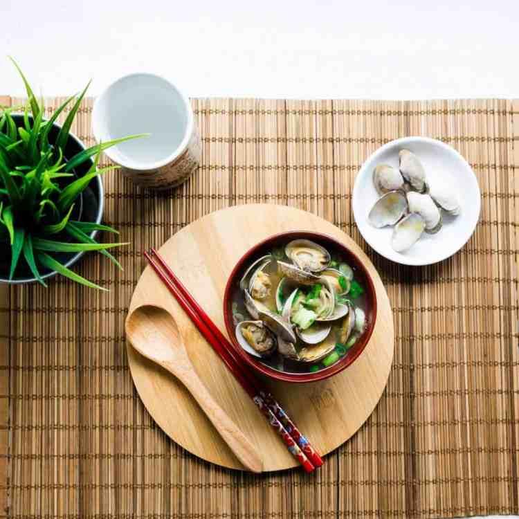 keto Japanese Asari Clam Miso Soup pic