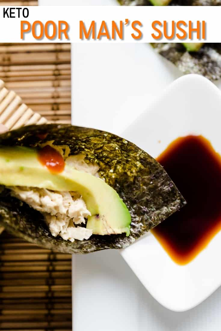 Keto Poor Man's Sushi pin 1