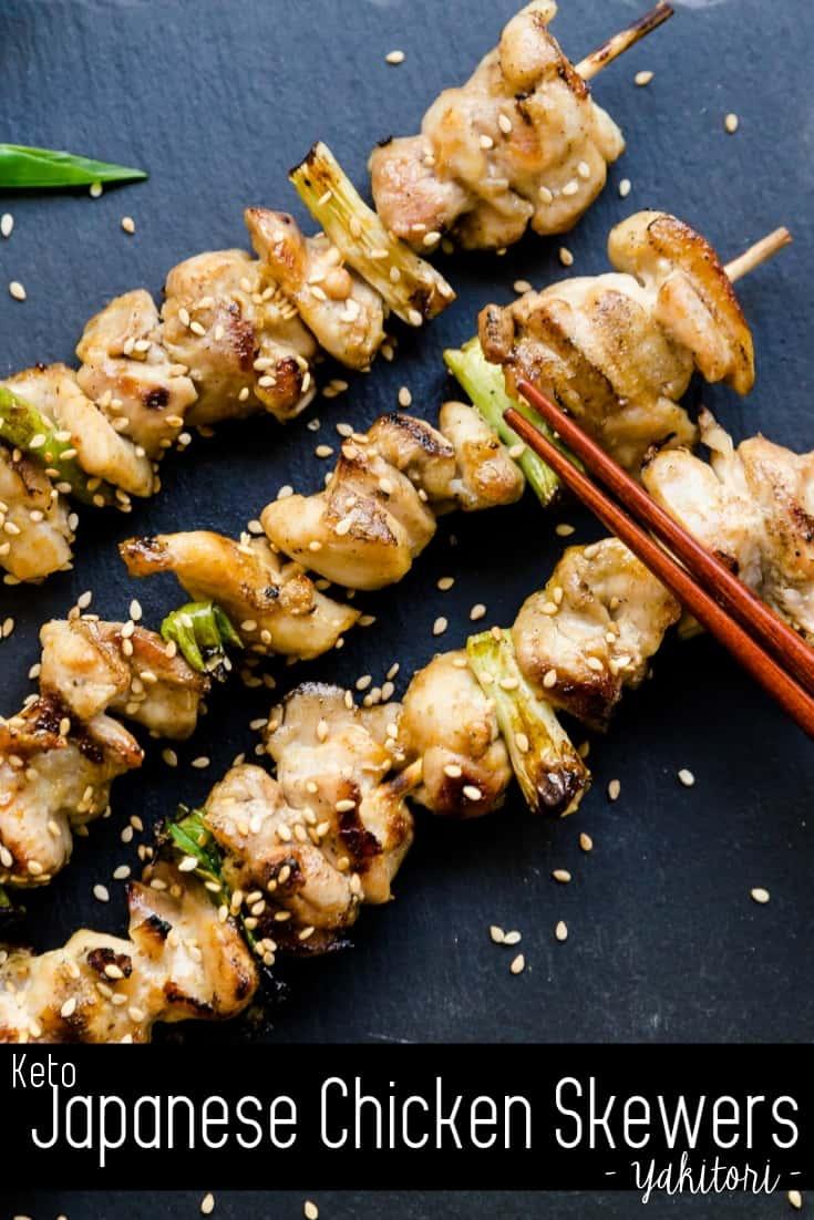 Keto Japanese Chicken Skewers - Yakitori Pin 1