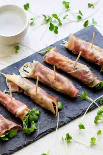 Keto Prosciutto Radish Sprouts Wraps with Japanese Garlic Mayo LowCarbingAsian Cover