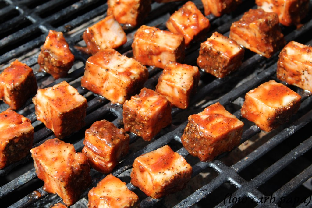 Bacon Burnt Ends finishing on the grill
