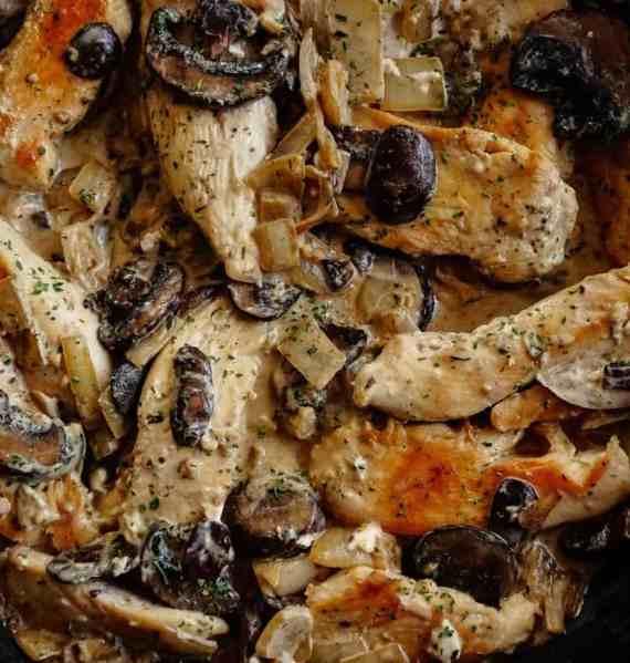 Creamy one-pan Garlic Butter Chicken with Mushrooms