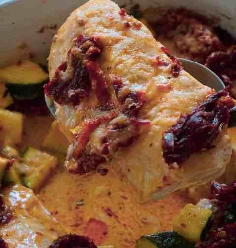 Creamy Tuscan Chicken with Zucchini