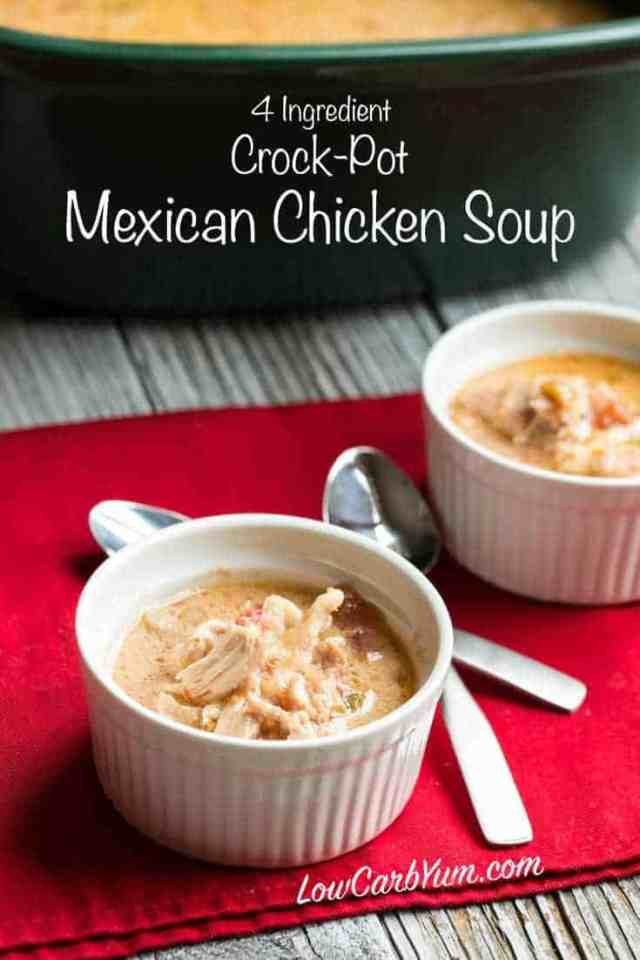 Low carb crock pot Mexican chicken soup
