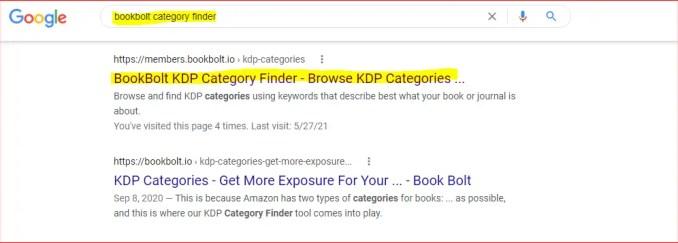 bookbolt kdp category finder
