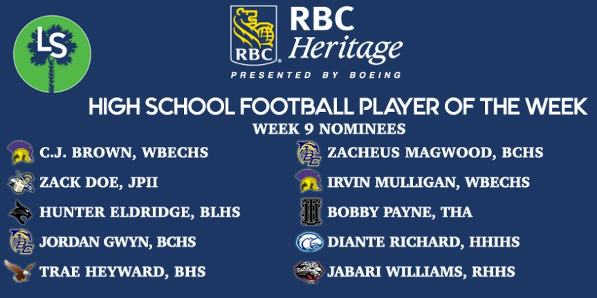 VOTE NOW! Week 9 RBC Heritage HSFB Player of the Week