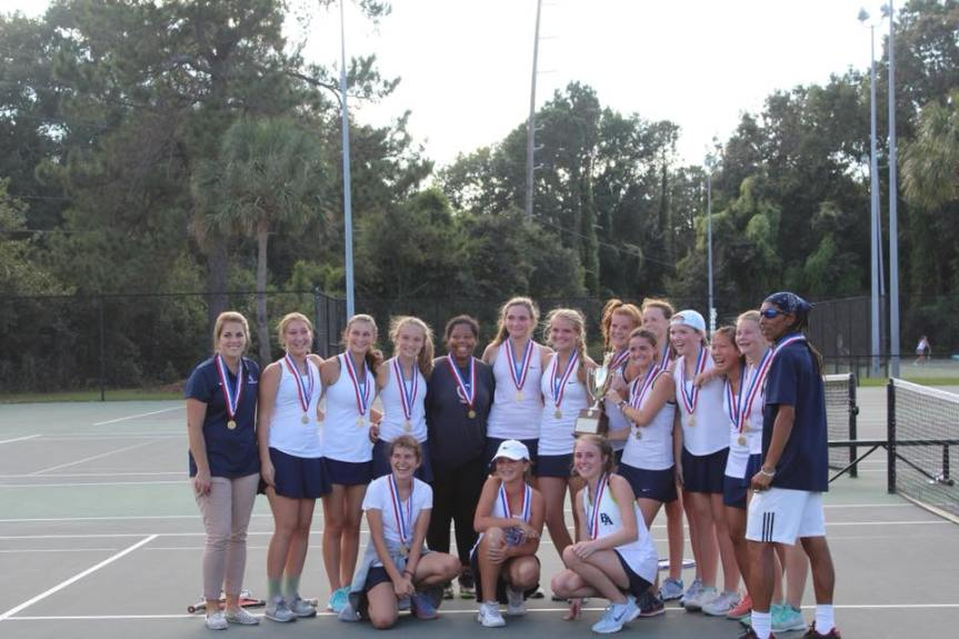 HS Tennis: BA Girls Win 2nd Straight SCISA 1A Title