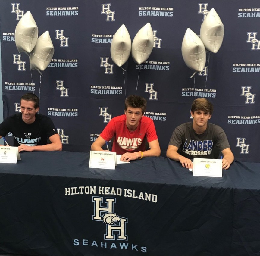 Three Seahawk Student-Athletes Sign Scholarships