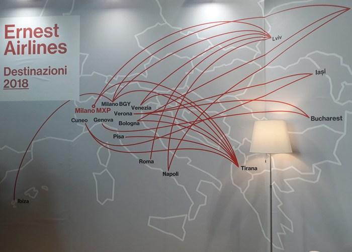 Усі напрямки Ernest Airlines у 2018 році