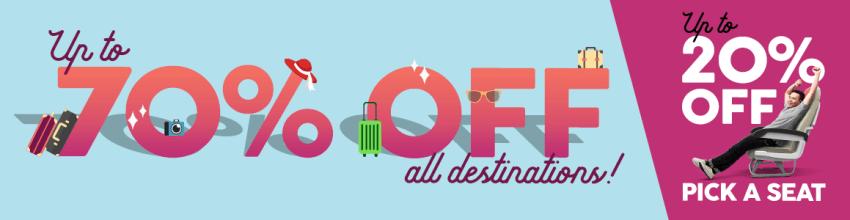 Air Asia 70% sale!