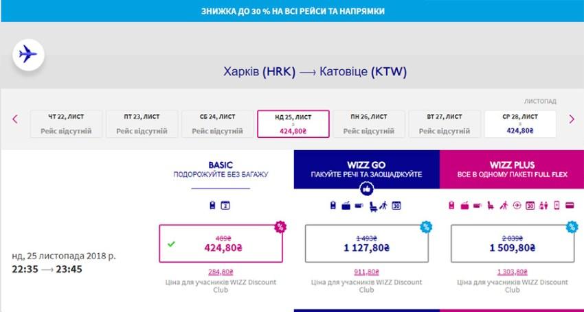 Переліт Харків - Катовіце зі знижкою 30%