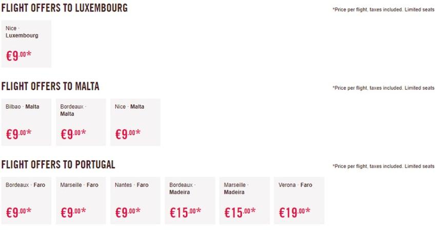 Дешеві авіаквитки в Люксембург, Португалію та на Мальту:
