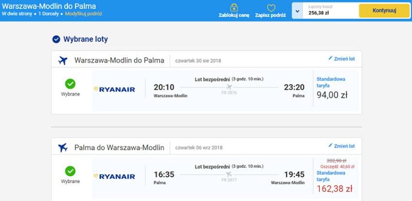 Авіаквитки Варшава - Пальма - Варшава зі знижкою
