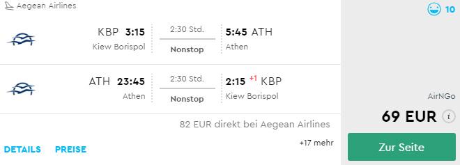 Авіаквитки Київ - Афіни - Київ на сайті Momondo.de