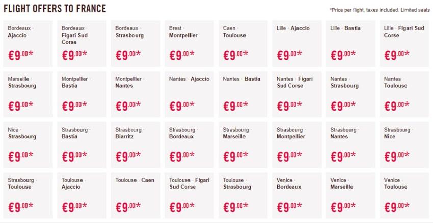 Дешеві перельоти у Францію: