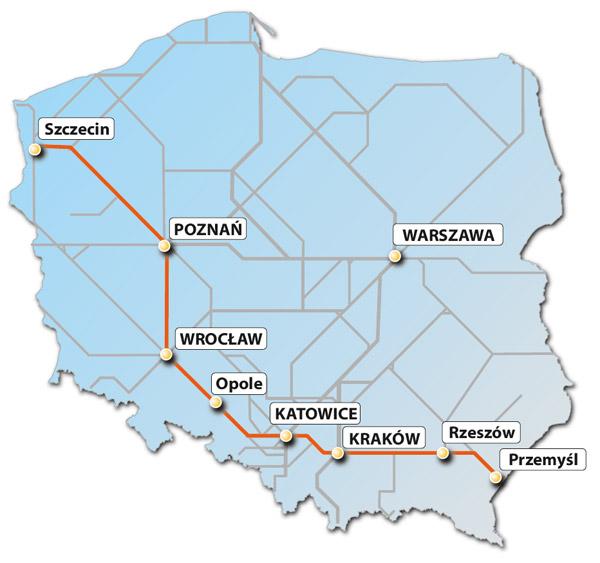 Карта польських залізниць