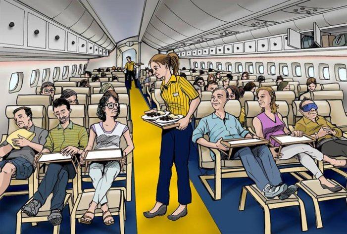 Салон літака лоукост-авіакомпанії Flikea