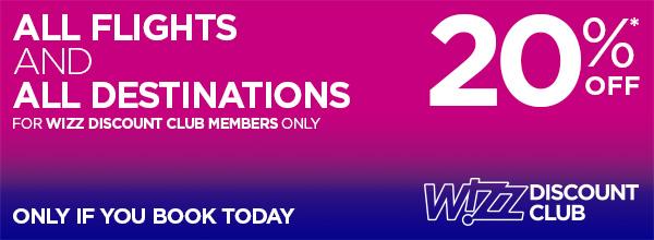 Wizz Discount Club april sale
