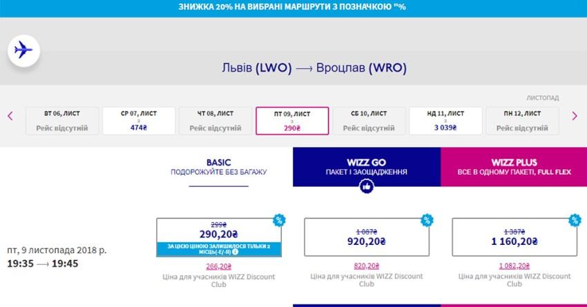 Авіаквитки Львів - Вроцлав зі знижкою 20%: