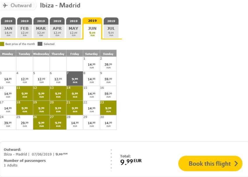 Авіаквитки Мадрид - Ібіца на сайті Vueling