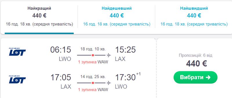 Львів - Лос-Анджелес - Львів