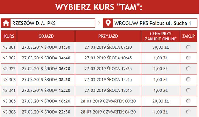Автобусні квитки Ряшів - Вроцлав на сайті Neobus