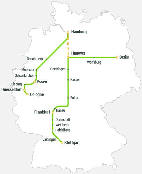 Куди їздить FlixTrain. Маршрутна сітка Flix Train в Німеччині