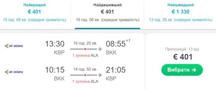 """Авіаквитки із Києва в Бангкок """"туди-назад"""""""