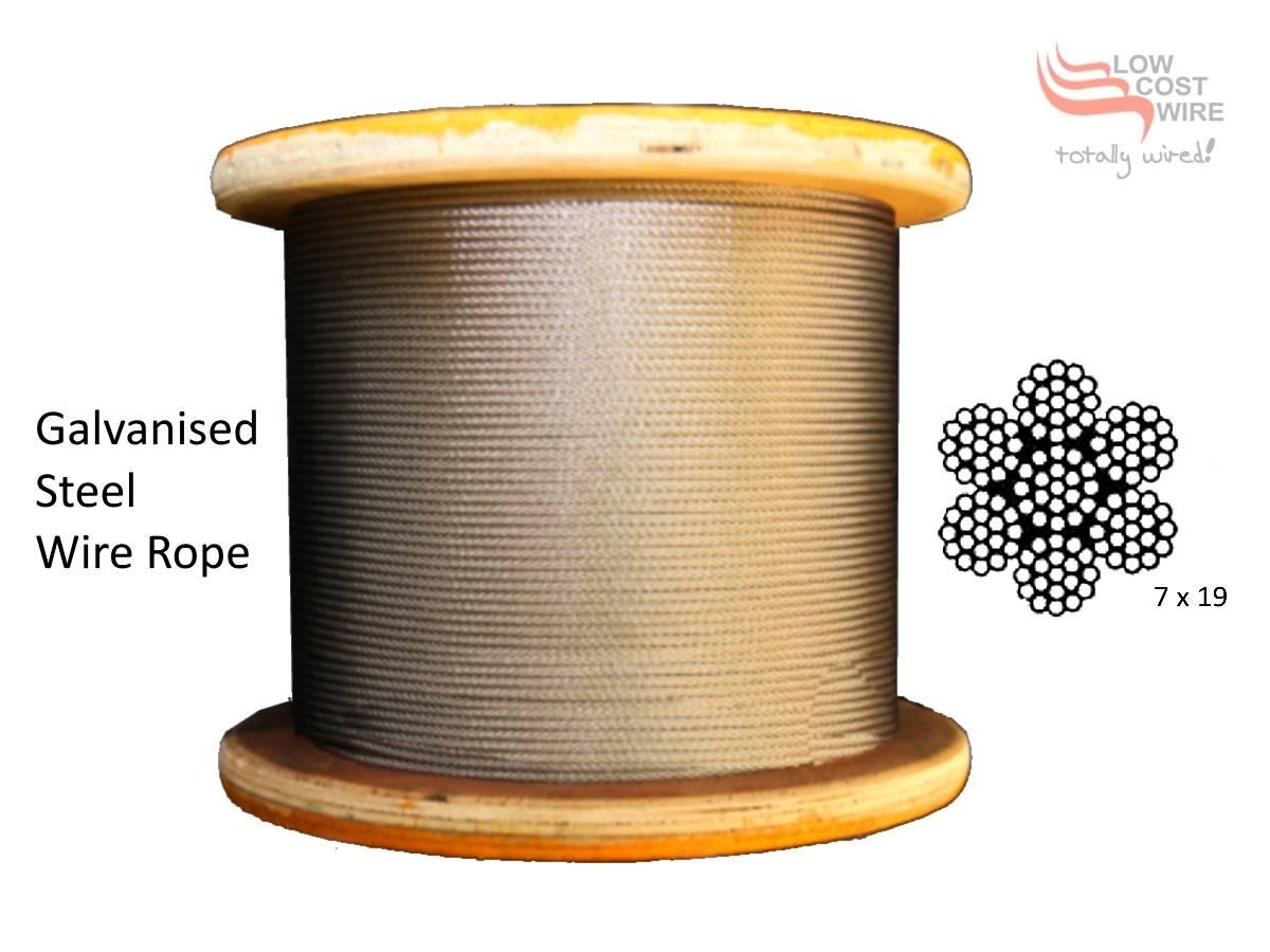 hight resolution of 7x19 g2070 galvanized steel rope prev