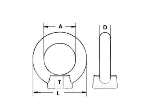 small resolution of eye nuts are designed to provide a method for anchoring chain and wire rope to a fixed surface by threading the eye nut onto a rod or bolt