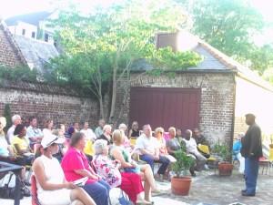 Joseph McGill Addresses Visitors to Heyward Washington House