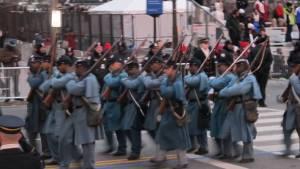 54th Mass Company I Marching Photo Courtesy of Bernice Bennett