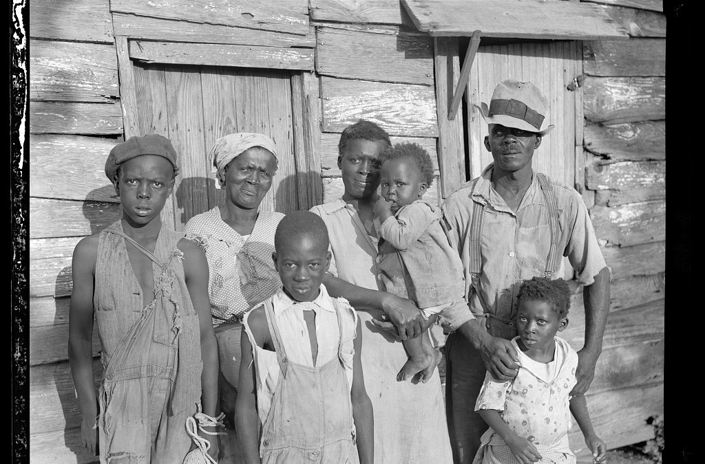 Lewis Hunter or Hinter and Family, Ladies Island, Beaufort, SC, 1936