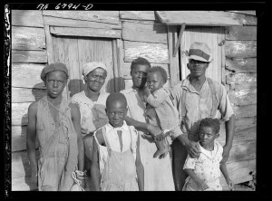 Lewis Hinter, Negrowith his family on Lady's Island off Beaufort, South Carolina