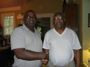 Joe With Master Carpenter Mr Ross Ossabaw Elder