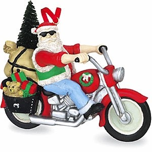 Santa On Motorcycle Embellishments