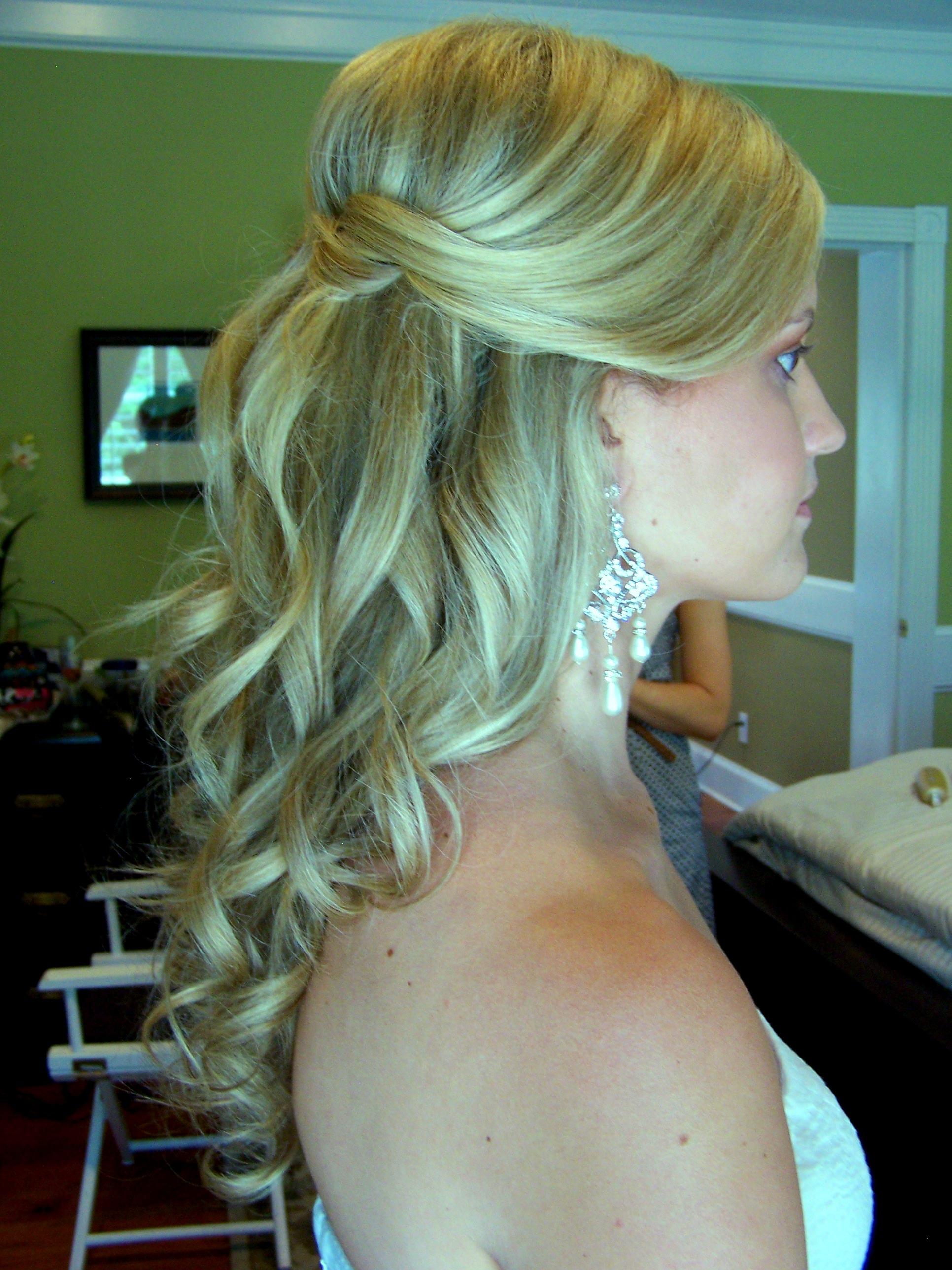 half up weddin hair style