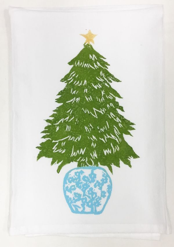 Ginger Jar tree towel