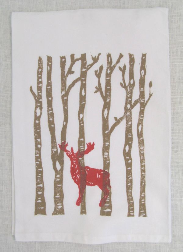 birch forest saddle towel