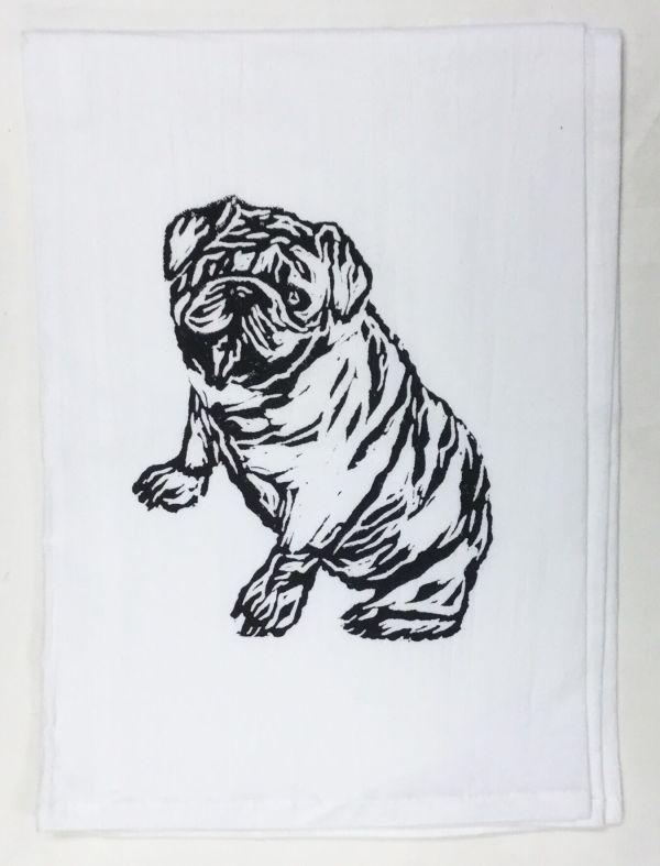 bulldog towel