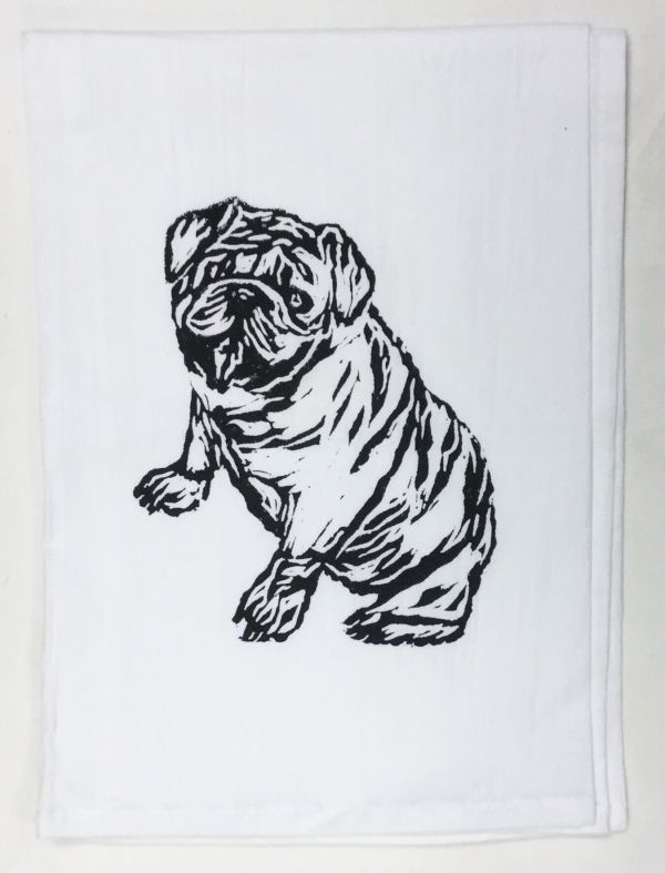 bulldog towel
