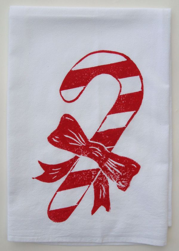 candy cane towel