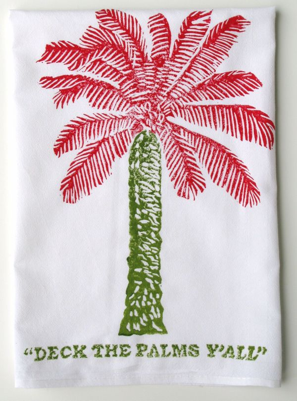 deck the palms y'all towel