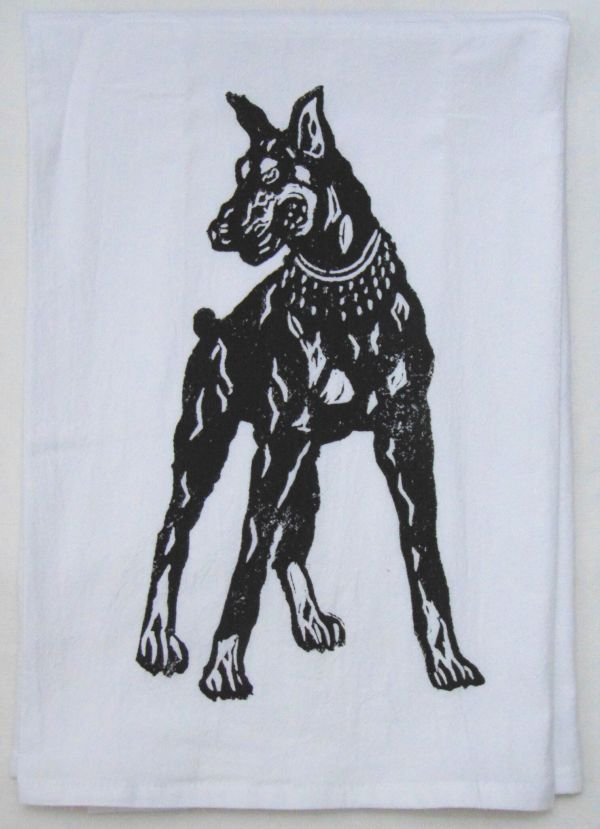 doberman pinscher towel