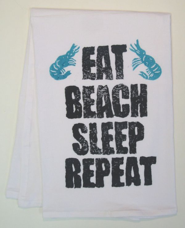eat beach towel