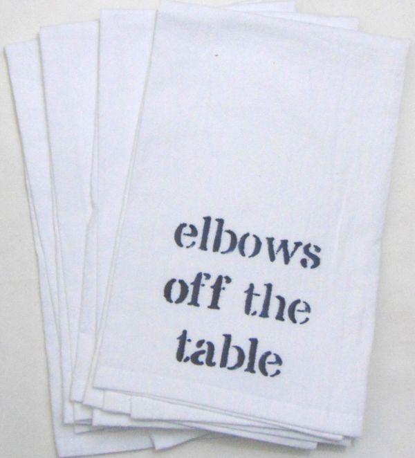 elbows napkin
