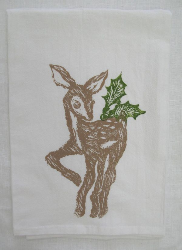 fawn holly towel