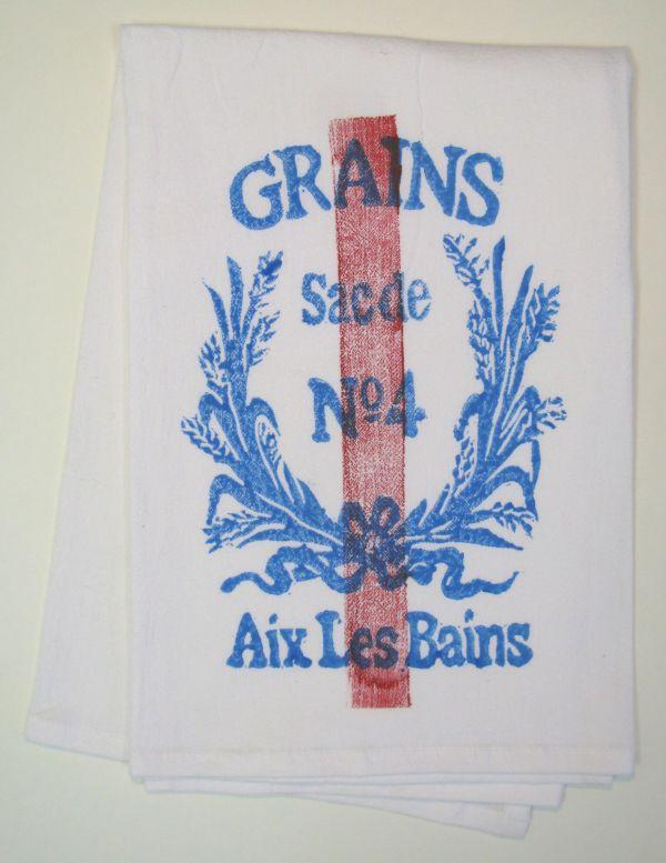 grain red stripe towel